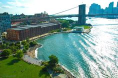 Brooklyn, Brooklyn Bridge, East River, and Downtown Manhattan: view from Manhattan Bridge.