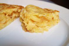 Jugosísima tortilla de patatas.