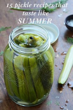 15 Pickle Recipes That Will Make Everything You Eat This Summer Taste Better - Pickle Recipes - Country Living Quick Refrigerator Pickles, Garlic Dill Pickles, Sour Pickles, Butter Pickles, Pickled Garlic, Pickles Recipe, Sweet Pickles, How To Make Pickles, Canning Pickles