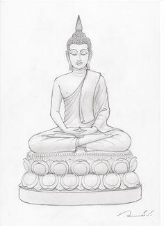 2.bp.blogspot.com -9MFQTQoOozg Thc9iC5QnbI AAAAAAAAAFo mBB7Y_4YQHI s1600… Lotus Buddha, Art Buddha, Buddha Kunst, Buddha Drawing, Buddha Tattoo Design, Buddha Tattoos, Outline Drawings, Art Drawings Sketches, Budha Painting