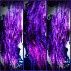 Welcome me to the mermaid life #mermaidhair purple hair
