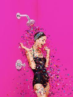 portrait | confetti shower