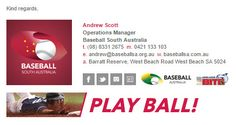 Email Signature Template for the Australian Baseball League - see all their creations here - https://emailsignaturerescue.com/email-signature-examples-4