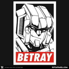 Betray T-Shirt - Starscream T-Shirt is $11 today at Ript!