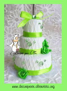 MINI WEDDING CAKE - TORTINA SEGNAPOSTO PLACE CARD MINI WEDDING CAKE