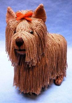 Yorkshire Terrier dog Alan Dart knit toys
