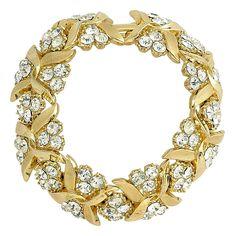 1960S Vintage Trifari Gold Crystal Bracelet