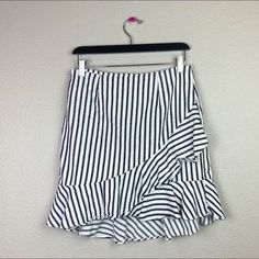a new day Skirts | Summer Striped Ruffle Skirt | Poshmark Summer Stripes, Ruffle Skirt, New Day, Blossoms, Size 10, Skirts, Outfits, Things To Sell, Fashion