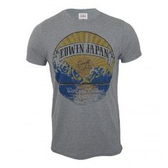 The Edwin cotton jersey t-shirt is part of the new autumn/winter collection and is perfect for those early fall evenings when the sun is just going down. The 100% cotton t-shirt features short sleeves and a classic crew neck. The Edwin t-shirt also features a large print of the sun rising over the Japanese mountains printed over the chest.