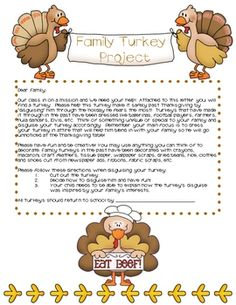 94 best thanksgiving images on pinterest thanksgiving writing family turkey project maxwellsz