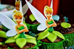 Juju's 4th birthday #Tinkerbell #cupcakes  :)