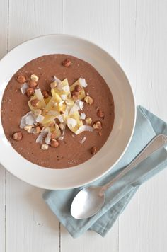 Chocolate breakfast with Teff - From Paulines Kitchen Teff Recipes, Baking Recipes, High Protein Recipes, Healthy Recipes, Healthy Breakfasts, Healthy Foods, Good Food, Yummy Food, Pancakes Easy