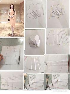 Ropa Vintage Barbie Clon Mod traje de vestido Floral Halter