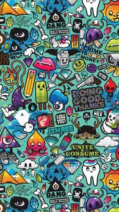 New Pop Art Wallpaper Iphone Love Ideas Wallpaper Iphone Liebe, Graffiti Wallpaper Iphone, Crazy Wallpaper, Wallpaper Doodle, Pop Art Wallpaper, Hipster Wallpaper, Mobile Wallpaper, Pattern Wallpaper, Retina Wallpaper