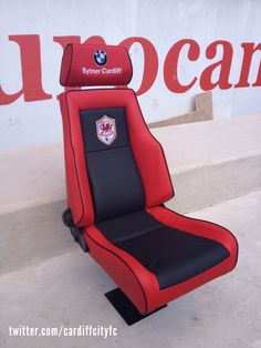 The first of the new 2013/14 stylish Cardiff City Stadium dugout seats... all in for Manchester City!