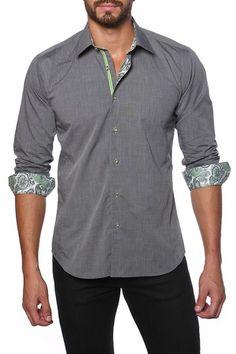 Long Sleeve Paisley Trim Dress Shirt by Jared Lang on @HauteLook