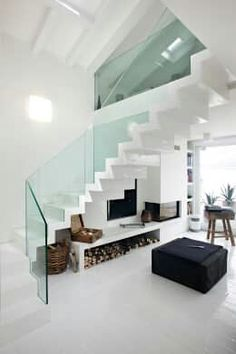 Stair idea for more usable space underneath