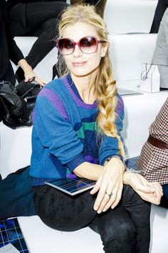 See all the Front Row photos from Chanel Spring/Summer 2013 Ready-To-Wear now on British Vogue Vogue Fashion, Star Fashion, Fashion Models, Fashion Show, Womens Fashion, Laura Bailey, Luscious Hair, Fall Trends, Everyday Outfits