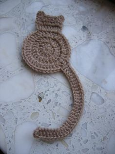 Looking for crocheting project inspiration? Check out Cat bookmark by member Just-in. - via @Craftsy