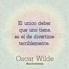 Oscar Wilde.
