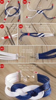 Chamy // Beauty, Fashion, Travel & more: DIY: Trendiges Leder-Armband für den SommerDIY: Trendy leather bracelet for the summer Diy Bracelets Easy, Bracelet Crafts, Crochet Bracelet, Jewelry Crafts, Jewelry Knots, Macrame Jewelry, Fabric Jewelry, Diy Leather Bracelet, Leather Jewelry