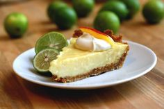 Mango Key Lime Pie: Part of the condensed milk in the recipe is replaced with pureed mango, plus there is coconut in the graham cracker crust..