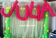 Candle Lighting Ceremony Ideas | Balloon Backdrop from Elegant Balloons - Bar  Bat MItzvah, Sweet 16 - mazelmoments.com