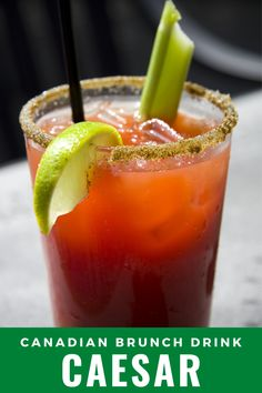 Here's an easy recipe for Canada's national cocktail - the Caesar drink is like the bloody mary but inspired by Italy. Caesar Drink, Caesar Cocktail, Evening Cocktail, Caesar Recipe, Pickle Vodka, Bloody Mary Recipes, Bloody Mary Recipe With Clamato Juice, Bloody Mary Rim Salt Recipe, Clamato Juice Recipe