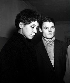 OUT Photo of Chet Baker 5; Chet Baker & french girlfriend Lili Copenhagen December 1955