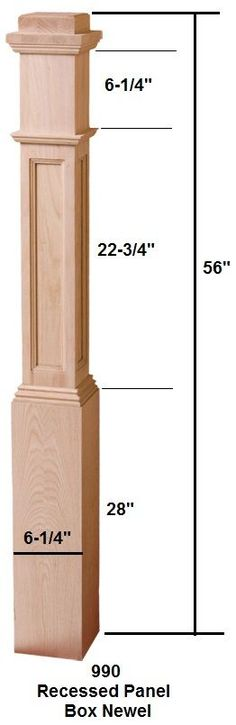 newel post for table base