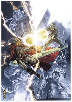 Simone Bianchi Thor final issue cover by simonebianchi on deviantART
