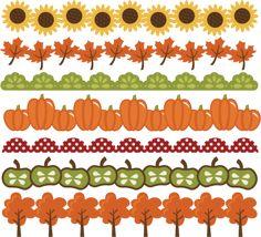 Fall Borders SVG cut files autumn svg files pumpkin border leaf border apple border free svgs