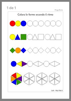 Pattern Geometriche Pregrafismo - The Form - geometriche Pattern Geometriche Pregrafismo - The Form Preschool Learning Activities, Preschool Worksheets, Kindergarten Math, Kids Learning, Math Patterns, Pre Writing, Math For Kids, Kids Education, Pre School