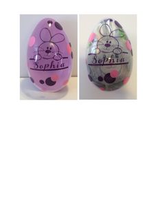 Personalized Easter Egg With Plush Stuffie By 2inspiredcrafters