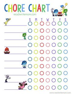 Free printable Inside Out inspired chore chart for kids will keep your kids motivated to do their daily chores and earn their rewards. Chore Chart For Toddlers, Reward Chart Kids, Charts For Kids, Disney Rewards, Chore Rewards, Free Printable Chore Charts, Behaviour Chart, Therapy Activities, Kids And Parenting