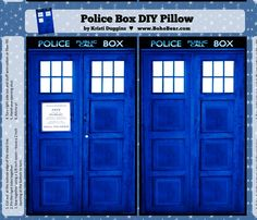 doctor who fabric   Doctor Who Inspired TARDIS Police Box Pillow Project fabric by ...