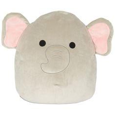 Medium Grey and Pink Elephant Squishmallow Stuffed Animal, 16 – Monkey Stuffed Animal Homemade Stuffed Animals, Cute Stuffed Animals, Pillow Pals, Elephant Stuffed Animal, Kawaii Plush, Ty Plush, Post Animal, Pet Pigs, Grey Elephant