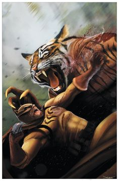 Catman vs The Bronze Tiger by Daniel LuVisi #SecretSix