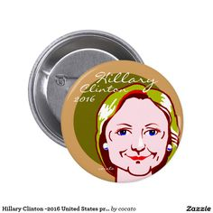 Hillary Clinton -2016 United States presidential 5.7cm 丸型バッジ