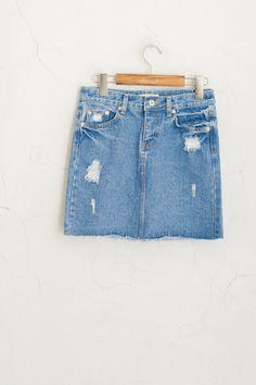 Denim Skirt, Blue