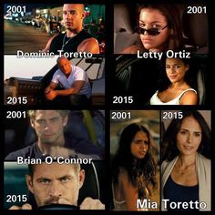 The Fast and The Furious cast over the years Fast And Furious, The Furious, Movie Memes, Movie Tv, Dom And Letty, Sung Kang, Nathalie Kelley, Dominic Toretto, Furious Movie