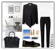 """""""Tech Job Interview"""" by tauriel25 ❤ liked on Polyvore featuring Yves Saint Laurent, Dr. Martens, Arco, Givenchy, Clinique, office and 60secondstyle"""