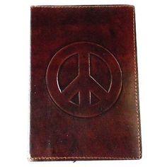 "Peace"" Embossed Leather Journal - Matr Boomie (J)"