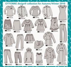: Ottobre - winter 2010 Sewing Clothes, Drawing Tips, Dame, Fall Winter, Autumn, Comics, Technical Drawings, Magazines, Character Design