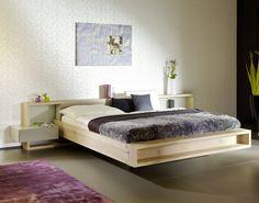 Eiche. Bett. Nachttisch. Massivholz. Forcher. Corner Sofa Design, Bed Design, Bed Frame And Headboard, Headboards For Beds, Brimnes Bed, Tatami Bed, Luxurious Bedrooms, Guest Room, Bedroom Furniture