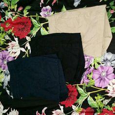 Bundle of 3 shorts Bundle of 3 banana republic shorts size 14. Blue, black, and tan. Banana Republic Shorts
