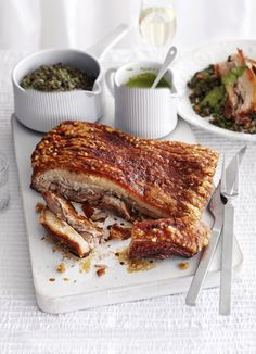 Pork belly, braised lentils and caper sauce: gastro pub-style comfort food. Put them all together in this weekend lunch recipe: designed to make everyone feel glad to be at home.