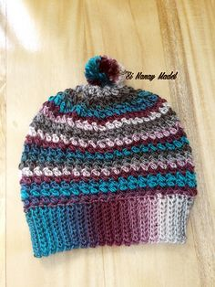 I've learned a new stitch from Hopeful Honey the Mini Bean Stitch and made it into a beanie.. It's a FREE PATTERN. So easy and quick to make.