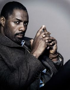"Idris Elba as title character from ""Luther"". His piercing gaze says it all (and is the #1 reason I'm hoping for him to be the next James Bond.)"