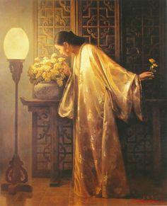 Xing Jianjian [邢健健] 1959 - Chinese Figurative painter